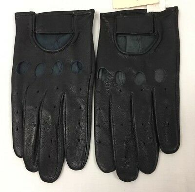 Hatch Leather Gloves Black Sz Large Open Knuckle Motorcycle Police NEW G118