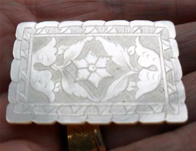 Antique Chinese Mother Of Pearl Thread Sewing Silk Winder C 1750