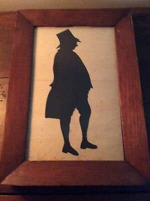 Early 1800's Hollow Cut Full Signed Silhouette Salem Mass John D Treadwell