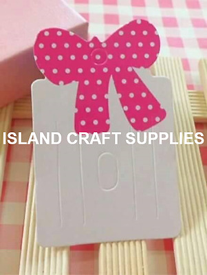 Pack of 50 Bow Hair Clip Bobble Holders display cards. Jewellery Display cards