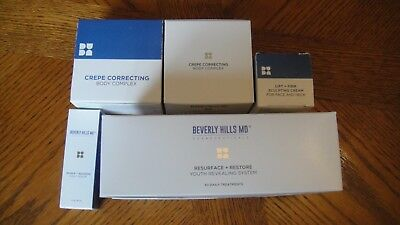 Brand New Boxed Beverly Hills Md Cosmetic Bundle Unwanted Gift Restore Lift Crep