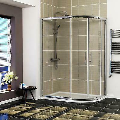 Right Entry Double Door Walk In Offset Quadrant Shower Enclosures + Tray