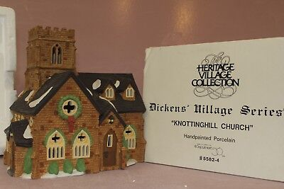 Dept 56 Heritage Collection Dickens Village Series Knotting Hill Church # 55824