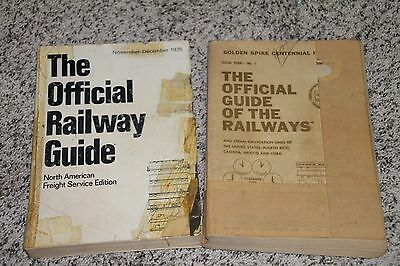 Official Guide of The Railways (2) 1975 and 1969 for Rock Island Railroad Iowa