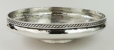 ARTS & CRAFTS HAMMERED SILVER PLATED BOWL c1900