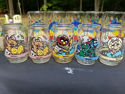 Welch's Jelly Glasses Muppets In Space Set of 5 Glasses