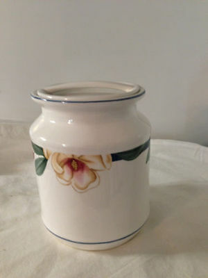 Savannah Grove Collection Citation Canister Cookie Jar Stoneware Petite Floral