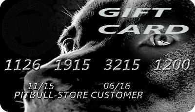 Gift Card for Pitbull-Store