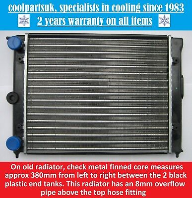 BRAND NEW RADIATOR VOLKSWAGEN POLO 1.0 PETROL 1983 TO 1990 / KIT CAR 380mm CORE
