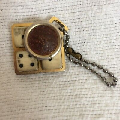 Vintage Dice Key Chain - Cage