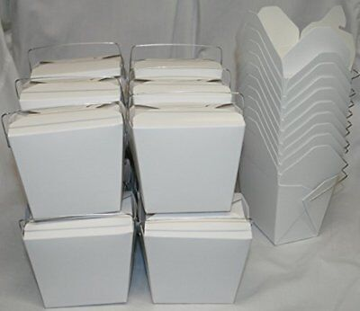AMK Chinese Take Out To go Food Boxes: 16 oz. (1 Pint) Lot Of 50 - White - food