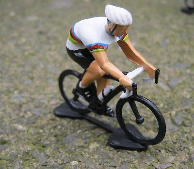 Rainbow jersey Gift For Cyclist, Hand Painted Metal Cyclist,Bike, souvenir