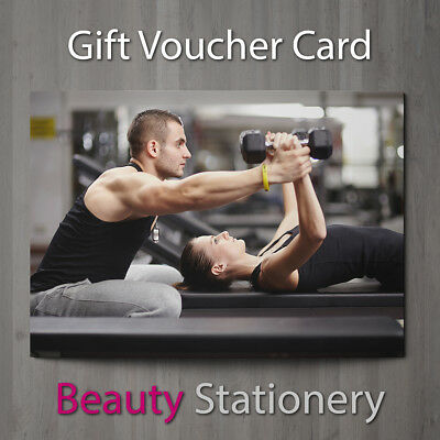 Gift Voucher Personal Trainers Gym Instructor Kettlebell Body Building A7 + Env.