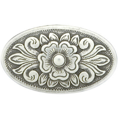 "Concho Antique Silver Screwback 1.5"" Diablo Oval 741405"