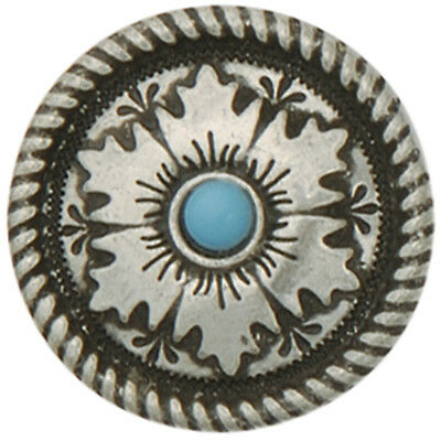 "Concho Antique Silver Screwback 1"" Mesa Round 776405"