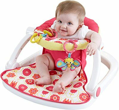 Fisher-Price Sit-Me-Up Floor Seat, Pink New