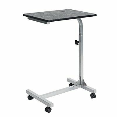 Coavas Medical Adjustable Overbed Table Tray with Wheels Multi-purpose Laptop