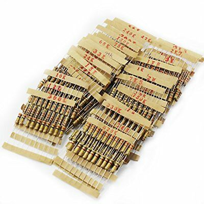 Ocr 48Value 480PCS 1K Ohm-2M Ohm 1W Metal Film Resistor Assortment Kit New