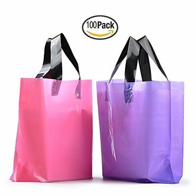 YookeeHome 100PCS Frosted Plastic Gift Bags, Large Merchandise Bags Retail