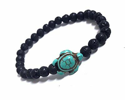Turtle Hemp Bracelet Hawaiian Sea Turtle Bracelet Lava Stone Beads Sea Turtle