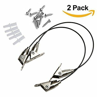2 Pack Furniture Anti-Tip Straps Heavy Duty Strap Baby Safety and All Metal