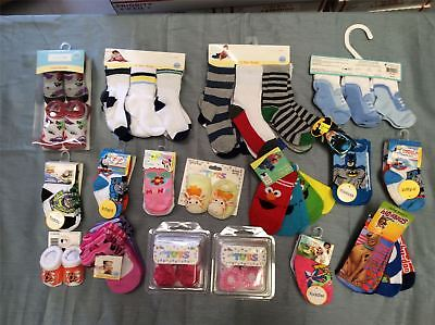 Wholesale Lot of Assorted Infant Toddler Multi Pack Socks Booties Lot of 40