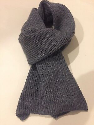 BRORA Made in Scotland 100% Pure Cashmere Scarf unisex Granite grey