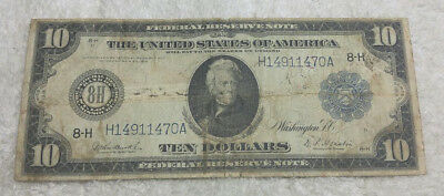 1914 $10 St. Louis Federal Reserve Note - free shipping