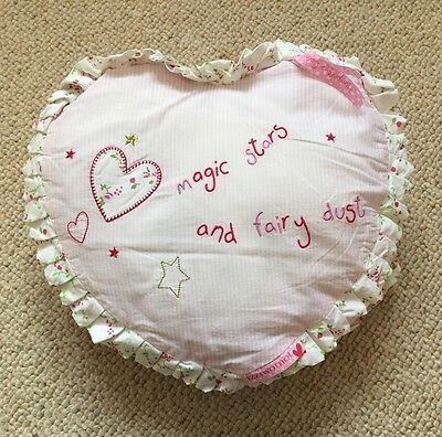 Izziwotnot Humphrey's Corner Lottie Princess Pink Heart Cushion
