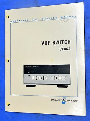 HP Agilent 59307A VHF Switch Operating and Service Manual 59307-90001