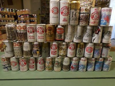 Vintage Beer Can Lot 42 Different Iron City Sports Steelers Penguins Pirates etc