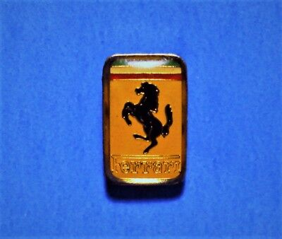 Ferrari - Black Horse & Yellow Logo - Car Emblem - Smaller Vintage Lapel Pin