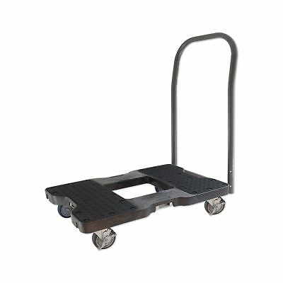 SNAP-LOC PUSH CART DOLLY BLACK with 1500 lb Capacity Steel Frame 4 inch Caste...