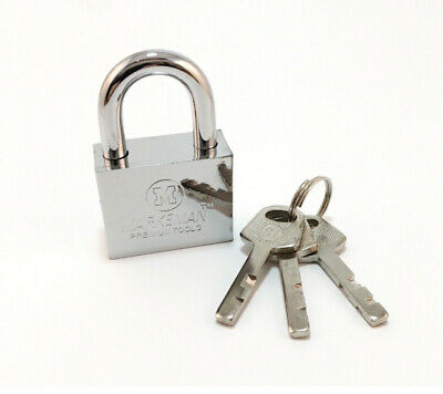 50mm Security Heavy Duty Padlock Silver Outdoor gate shed Lock (CH)