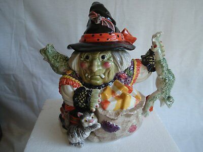 2006 MIBFitz and Floyd Halloween Witch Teapot *Frog Handle* Boxed 688/122