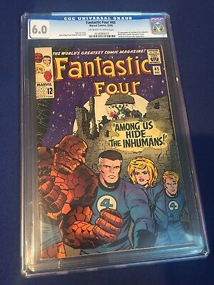 Fantastic Four #45 1965 Marvel CGC 6.0 OW/White Pgs First Appearance Inhumans