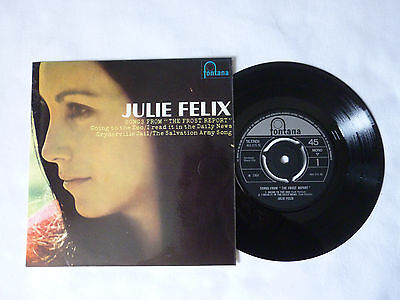 "Julie Felix ~ Songs From The Frost Report ~ Quality Near Mint '66 Uk 7"" Vinyl Ep"