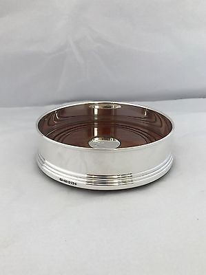 Silver And Wooden Based Bottle Coaster Birmingham 2000 B & Co