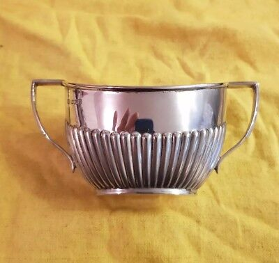 Antique Solid Silver Sugar Bowl by Robert & Belk Sheffield 1910 80.7g