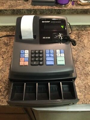 Sharp XE-A106 Electronic Cash Register With Key ( Great Shape & In Factory Box )