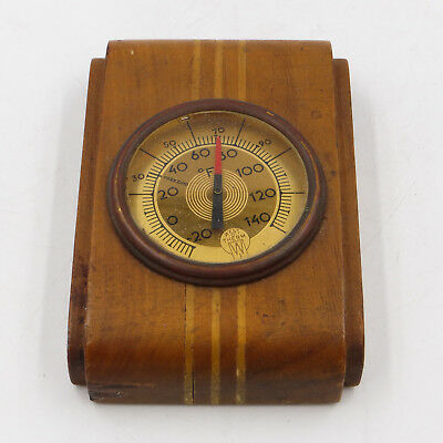 Vintage Wooden Art Deco West-O-Therm Thermometer