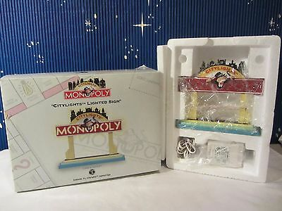 Dept 56 CITYLIGHTS LIGHTED SIGN Monopoly collection  #13610 (1016SH)