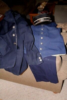 Burlington Route CB&Q Complete Vintage 1959 Agent Uniform With Agent Hat