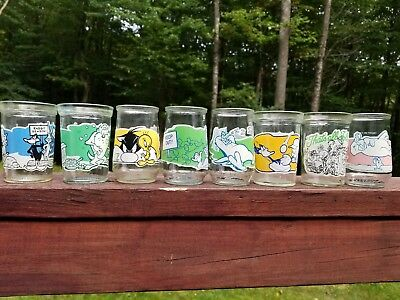 Welch's Jelly  Jar Looney Tunes,  8 Glasses Of This Collector Series From 1994