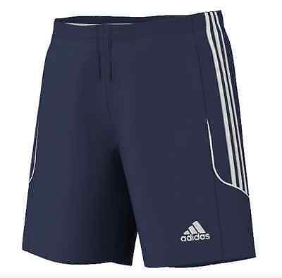 SHORTS FOOTBALL/ SOCCER adidas SQUAD 13 MENS S to X-LARGE NAVY/ WHITE TRIM