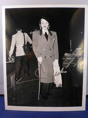 Marlene Dietrich Signed 8 x 10 Black and White Photo with COA