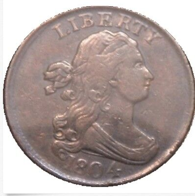 1804 draped bust half cent uncertified