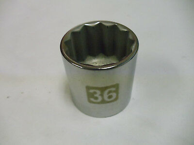 """Craftsman 1/2"""" Drive Laser Etched Std Sockets, Metric & STD 12 Point Made in USA"""