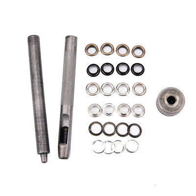 Eyelet Tool Set Grommet Kit +100 eyelets for DIY Kydex Sheath Huning Parts