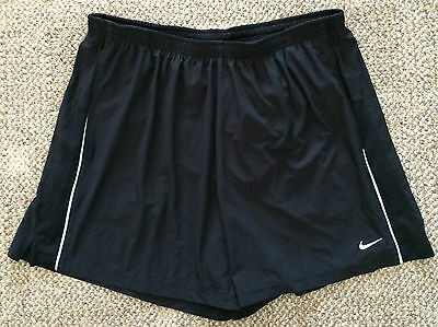 Mens Size XXL 2XL Nike Dri Fit Black Running Athletic Shorts 519793 010